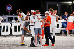 Team Belgium, Devos Pieter, Bruynseels Niels, Guery Jerome, Weinberg Peter, Laeremans Wendy, Bruyninx Frederik, <br /> Olympic Games Tokyo 2021<br /> © Hippo Foto - Dirk Caremans<br /> 07/08/2021