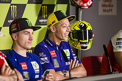 June 8, 2017 - Barcelona, Spain - MotoGP, Valentino Rossi(Ita), Movistar Yamaha Motogp Team during the press conference of MotoGp Grand Prix Monster Energy of Catalunya, in Barcelona-Catalunya Circuit, Barcelona on 8th June 2017 in Barcelona, Spain. (Credit Image: © Urbanandsport/NurPhoto via ZUMA Press)