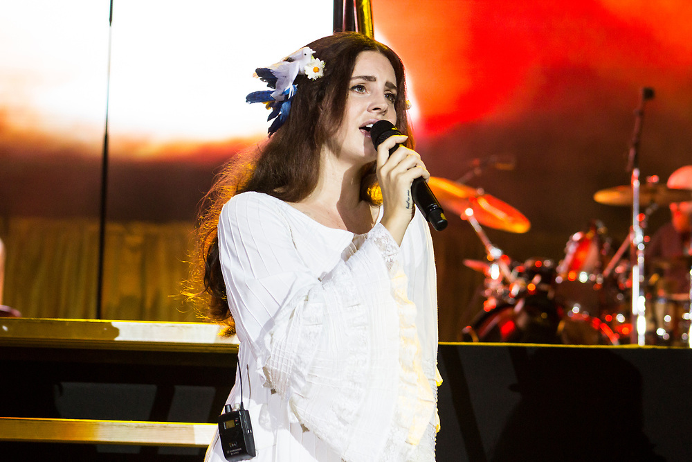 Lana Del Rey performs at Lollapalooza in Chicago, IL on July 28, 2016.