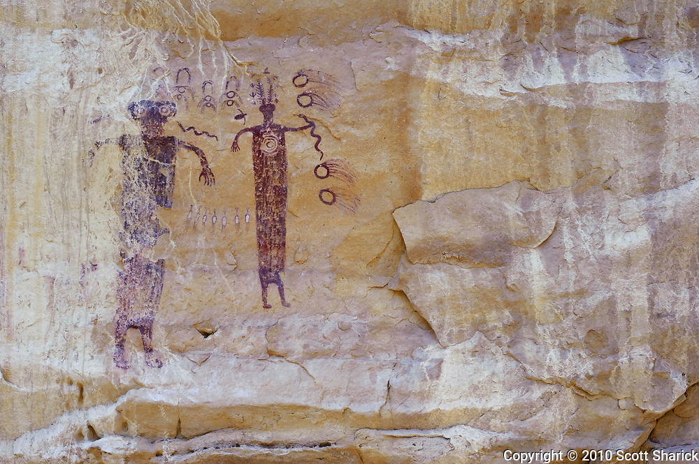 Barrier Canyon style of Indian Pictographs in the San Rafeal Swell of Utah. Missoula Photographer