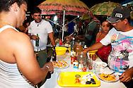 Ostiones stand in Gibara, Holguin Province, Cuba.