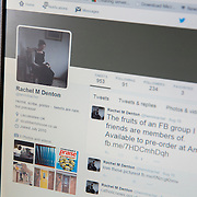 Hermit Sister Rachel Denton's twitter page is shown on a computer at St Cuthberts' Hermitage in Lincolnshire, north east Britain August 24, 2015. Sister Rachel Denton has vowed to spend the rest of her life living as a consecrated hermit in the Catholic faith. A hermit is a person who chooses to live alone, with the intention of finding God. Rarely leaving her house she lives a life of prayer and solitude. However, she uses the internet and social media to share her experience and distance her self from physically interacting with society. REUTERS/Neil Hall