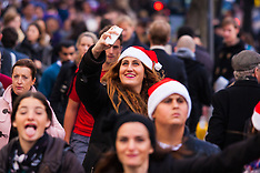 "2014-12-23 ""Golden Hour"" Christmas shoppers spend millions in London's West End."