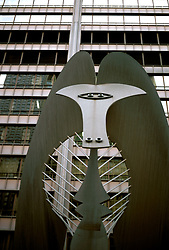 Illinois: Chicago.  Picasso sculpture.  Photo chicag103..Photo copyright Lee Foster, 510/549-2202, lee@fostertravel.com, www.fostertravel.com