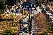 The remnants of Chateau Boswell stand in after the Glass Fire ravished segments of Calistoga on Oct. 12, 2020.