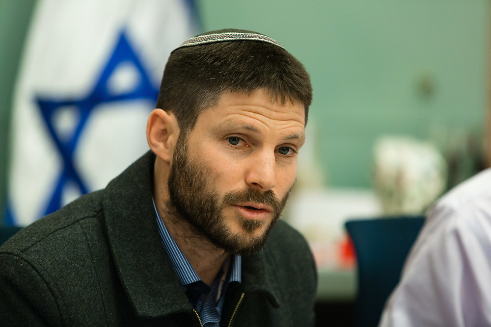 Israeli lawmaker Bezalel Smotrich is seen at the Knesset, Israel's parliament in Jerusalem, on February 7, 2016.