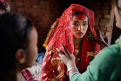 The wedding of 16-year-old Anita in Kagati village, Nepal.<br /> <br /> The 2015 earthquakes devastated Nepal and left girls and women in an increasingly vulnerable position, leading experts to believe child marriage rates will increase over the coming years.