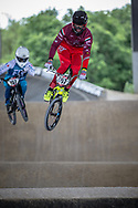 #697 (BUJAKI Bence) HUN at Round 5 of the 2019 UCI BMX Supercross World Cup in Saint-Quentin-En-Yvelines, France
