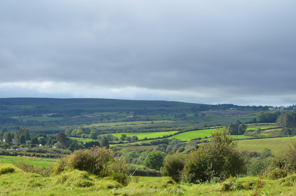 The rolling landscape and ever changing weather in Brosna, County Kerry, Ireland