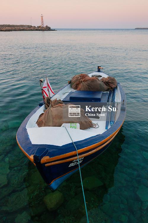 Boat in the harbor, Kyrenia, Turkish Republic of Northern Cyprus