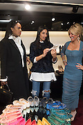 PATRICIA YUNGHANNS; NOREEN GOODWIN; ANNA SCOLARO; , Anna Scolaro hosts a charity shopping event at  Dolce and Gabbana, 175 Sloane St. London. In aid of TeamFox.org for Parkinsons. 10 February 2016