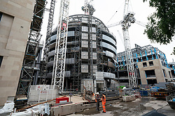 Edinburgh, Scotland, UK. 17 June, 2020. Views from Edinburgh city centre before expected relaxation of covid-19 lockdown by Scottish Government. Pictured; Construction work has resumed at new W Edinburgh Hotel at new St James Centre development. Iain Masterton/Alamy Live News