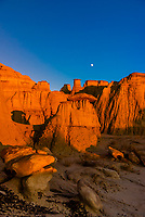 Sunset on the strange landscape of the Ah-Shi-Sie-Pah Wilderness Study Area, New Mexico USA.