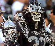 """Raider fan """"The Assassin"""" on Sunday, September 26, 2004, in Oakland, California. The Raiders defeated the Buccaneers 30-20."""