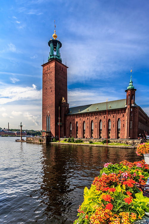 City Hall in Stockholm, Sweden. City Hall is one of the most memorable silhouettes in Stockholm. It is the locale of the Nobel Prize banquet and one of Stockholm's significant tourist attractions.