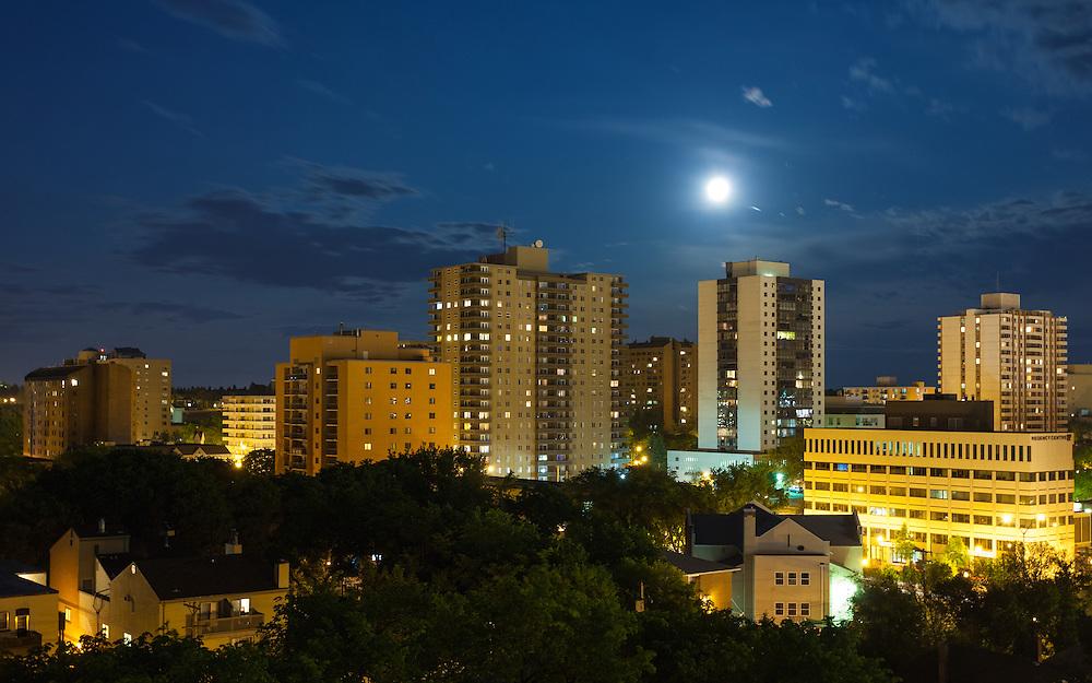 View from the Cloud, Saskatoon Full Moon