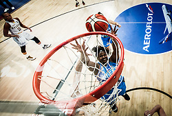 Shante Evans of Slovenia during basketball match between Women National teams of Belgium and Slovenia in the Qualification for the Quarter-Finals of Women's Eurobasket 2019, on July 2, 2019 in Belgrade Arena, Belgrade, Serbia. Photo by Vid Ponikvar / Sportida