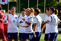 Fifa Womans World Cup Canada 2015 - Preview //<br /> Cyprus Cup 2015 Tournament ( Gsz Stadium Larnaca  - Cyprus ) - <br /> Canada vs South Korea 1-0  //  Players of South Korea , talk during the match , from the left :<br /> SHIM Seoyeon ,LIM Seonjoo ,CHO Sohyun ,JUNG Seolbin ,KIM Hyeri ,SHIN Damyeong