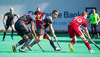 St.-Job-In 't Goor / Antwerpen -  6Nations U23 -  Yannick van der Drift (Ned) met Jack Waller (r0  Nederland Jong Oranje Heren (JOH) - Groot Brittannie .  COPYRIGHT  KOEN SUYK