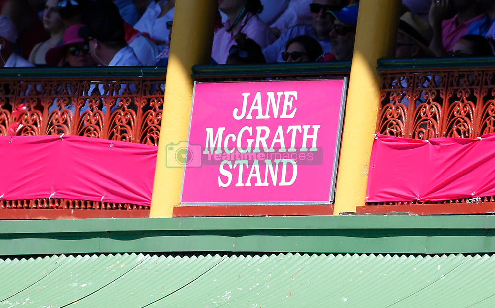 Ladies pavillion is named in honour of Jane Mcgrath during day two of the Ashes Test match at Sydney Cricket Ground.