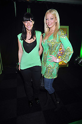 Left to right, SAMANTHA HOSKER and LIZ FULLER at the premier of Ben Ten Alien Force at the Old Billingsgate Market, City of London on 15th February 2009.