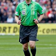 NLD/Rotterdam/20100919 - Voetbalwedstrijd Feyenoord - Ajax 2010, scheidsrechter Kevin Blom