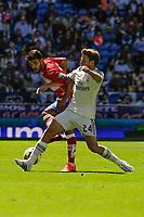 Real Madrid´s  and Granada´s Daniel Candeias during 2014-15 La Liga match between Real Madrid and Granada at Santiago Bernabeu stadium in Madrid, Spain. April 05, 2015. (ALTERPHOTOS/Luis Fernandez)