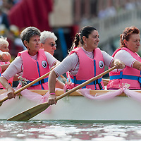 VENICE, ITALY - SEPTEMBER 05: A group of women rowers takes  in the Historic Regata on September 5, 2010 in Venice, Italy. The Historic Regata is the most exciting rowing race on the Gran Canal for the locals and one of the most spectacular. ***Agreed Fee's Apply To All Image Use***.Marco Secchi /Xianpix. tel +44 (0) 207 1939846. e-mail ms@msecchi.com .www.marcosecchi.com