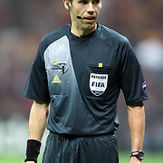 Referee Tom Harald Hagen during their UEFA Champions League Group H matchday 2 soccer match Galatasaray between Braga at the TT Arena Ali Sami Yen Spor Kompleksi in Istanbul, Turkey on Tuesday 02 October 2012. Photo by TURKPIX