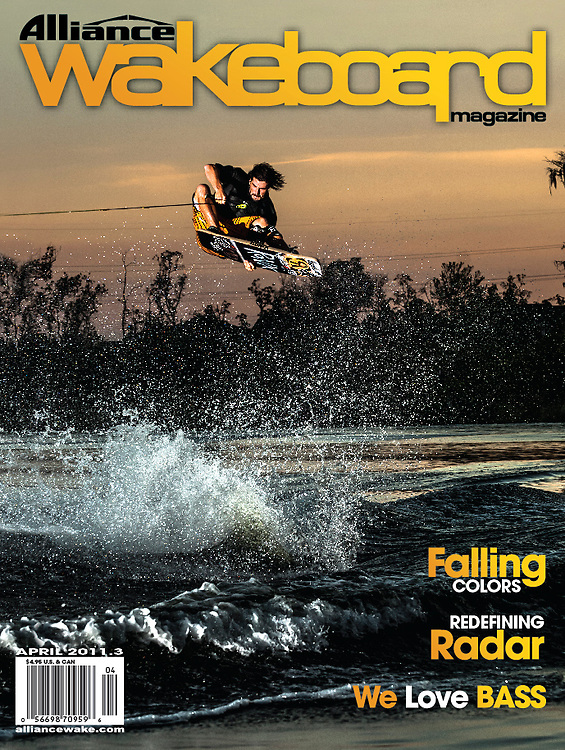 Dieter Humpsch on the cover of Alliance Wakeboard Magazine.