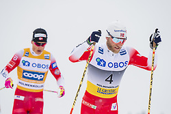 March 9, 2019 - Oslo, NORWAY - 190309 Johannes Høsflot Klæbo and Martin Johnsrud Sundby of Norway competes in men's 50 km classic technique during the FIS Cross-Country World Cup on March 9, 2019 in Oslo..Photo: Fredrik Varfjell / BILDBYRÃ…N / kod FV / 150211. (Credit Image: © Fredrik Varfjell/Bildbyran via ZUMA Press)