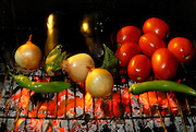 vegetable BBQ Onion, Tomato and hot peppers