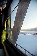 Onboard the BAM (Baikal-Amur Mainline), Siberia. Russia