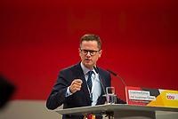 DEU, Deutschland, Germany, Hamburg, 08.12.2018: Carsten Linnemann, stv. Vorsitzender der CDU/CSU-Bundestagsfraktion, beim Bundesparteitag der CDU in der Messe Hamburg.