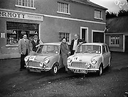 14/11/1959<br /> 11/14/1959<br /> 14 November 1959<br /> Austin 7's that took part in the Cork Rally, assembled at Jobestown House, Tallaght, Co. Dublin, before the start.<br /> Car 22 Ralf Meyer and Cecil Vard, Car 18 Shelie O'Cleary and Mike Ivis.