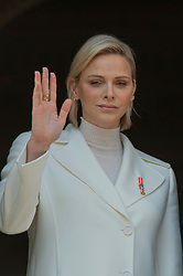 Prince Albert II and Princess Charlene of Monaco are attending the military procession held in the Palace Square, during the National Day ceremonies, Monaco Ville (Principality of Monaco), on november 19th, 2019. Photo by Marco Piovanotto/ABACAPRESS.COM
