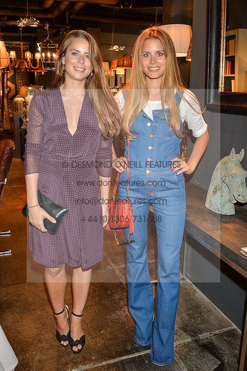 Left to right, sisters LYDIA FORTE and IRENE FORTE at a party to celebrate the publication of 'Feeding The Future' by Lohralee Astor and Tali Shine held at OKA, 155-167 Fulham Road, London on 8th June 2016.