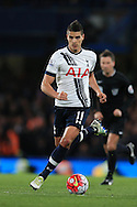 Erik Lamela  of Tottenham Hotspur in action. Barclays Premier league match, Chelsea v Tottenham Hotspur at Stamford Bridge in London on Monday 2nd May 2016.<br /> pic by Andrew Orchard, Andrew Orchard sports photography.