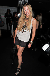 LAURA COMFORT at a party to launch the Gucci designed Fiat 500 customized by Gucci Creative Director Frida Giannini in collaboration with FIAT's Centro Stile, held at Fiat, 105 Wigmore Street, London on 27th June 2011.