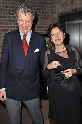 The HON.WILLIAM & HON.OLGA SHAWCROSS at a party to celebrate the launch of Simon Sebag-Montefiore's new book - 'Jerusalem: The Biography' held at Asprey, 167 New Bond Street, London on 26th January 2011.