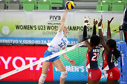 Lana Scuka of Slovenia during the volleyball match between National team of Slovenia and Dominican Republic in Preliminary Round of Womens U23 World Championship 2017, on September 11, 2017 in SRC Stozice, Ljubljana, Slovenia. Photo by Morgan Kristan / Sportida