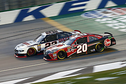 July 13, 2018 - Sparta, Kentucky, United States of America - Paul Menard (22) and Christopher Bell (20) battle for position during the Alsco 300 at Kentucky Speedway in Sparta, Kentucky. (Credit Image: © Chris Owens Asp Inc/ASP via ZUMA Wire)