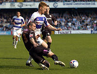 Photo: Olly Greenwood.<br />Queens Park Rangers v West Bromwich Albion. Coca Cola Championship. 31/03/2007. West Brom's Paul Robinson and QPR's Steve Lomas