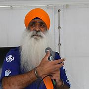 London, England, UK. 27 April 2019. Storytelling/Spoken word at the Vaisakhi Festival is a Sikh New Year in Trafalgar Square, London, UK.