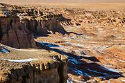 Landscape of the White Cliffs, Tsagaan Suvarga in Mongolia's Gobi Desert, Gobi Desert, Mongolia