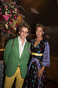 LUKE EDWARD HALL; NIKKI TIBBLES, spotted at Bloom & Wild's exclusive event at 5 Hertford Street last night. 5 September 2017. The event was announcing the new partnership between the UK's most loved florist, Bloom & Wild and British floral design icon Nikki Tibbles Wild at Heart. Cocooned in swaths of vibrant Autumn blooms, guests enjoyed floral-inspired cocktails from Sipsmith and bubbles from Chandon, with canapés put on by 5 Hertford Street. Three limited edition bouquets from the partnership can be bought through Bloom & Wild's website from the 1st September.  bloomandwild.com/WAH