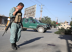 June 16, 2017 - Kabul, Afghanistan -  An Afghan security force member inspects the site of an attack in Kabul, capital of Afghanistan. At least four people were killed and seven others wounded after two suicide bombers struck a local mosque in Afghanistan's capital of Kabul on Thursday night, an Interior Ministry official said. (Credit Image: © Rahmat Alizadah/Xinhua via ZUMA Wire)