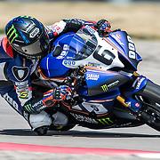 August 4, 2013 - Tooele, UT - Cameron Beaubier competes in Daytona Sportbike Race 1 at Miller Motorsports Park. Beaubier won the race.