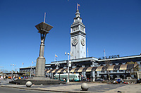 Ferry Building, San Francisco, California, USA, completed in 1898. On top of the building is a 245-foot tall clock tower, with four clock dials, each 22 feet in diameter, which can be seen from Market Street, a main thoroughfare of the city. 201304151457<br /> <br /> Copyright Image from Victor Patterson, 54 Dorchester Park, Belfast, UK, BT9 6RJ<br /> <br /> Tel: +44 28 9066 1296<br /> Mob: +44 7802 353836<br /> Voicemail +44 20 8816 7153<br /> Skype: victorpattersonbelfast<br /> Email: victorpatterson@me.com<br /> Email: victorpatterson@ireland.com (back-up)<br /> <br /> IMPORTANT: If you wish to use this image or any other of my images please go to www.victorpatterson.com and click on the Terms & Conditions. Then contact me by email or phone with the reference number(s) of the image(s) concerned.