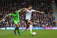 Ryan Fredericks of Fulham and Ben Marshall of Wolverhampton Wanderers during the Sky Bet Championship match at Craven Cottage, London<br /> Picture by Richard Brooks/Focus Images Ltd 07947656233<br /> 18/03/2017